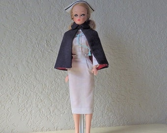 Wendy Clone Doll Dressed in Registered Nurse Outfit,  Uneeda Doll Co, 1960s.