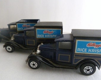 1979 Model A Ford Matchbox Kellogg's Rice Krispies Delivery Toy Car Set
