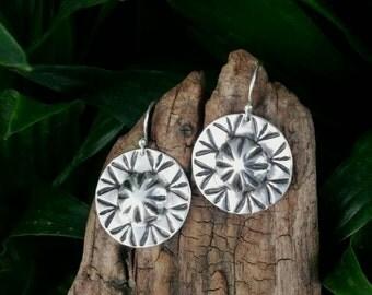 Sterling Silver Southwestern Earrings