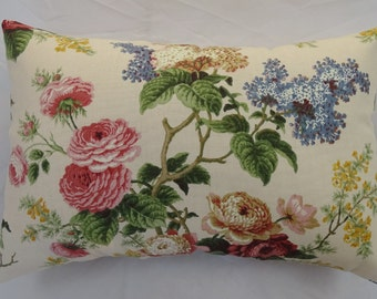 Lumbar Pillow  Waverly Floral Emma's Country Jewel New   14 x 9 inches