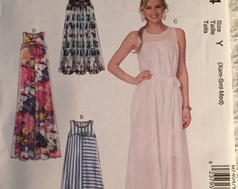 McCall's Sewing Pattern M7404 Misses' Dresses with Yokes and Belt New UNCUT