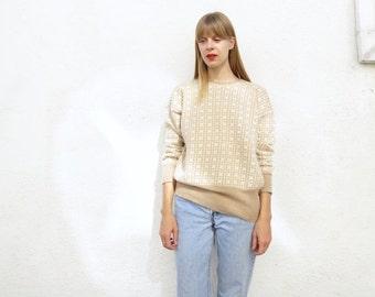 Sweater Angora Houndstooth 80s, sz. M