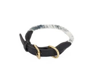 SALE Rope Dog Collar, Shibori