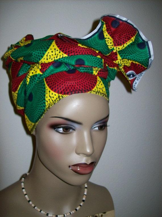 African head wrap fabric Head Scarf Fabric Extra Long/ DIY