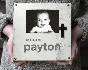 Personalized Baptism Frame, Baptism or First Communion Keepsake, Godchild Gift, New Baby Gift, Christening Gift