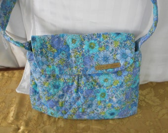 bag  quilted bag blue bagmedium bag