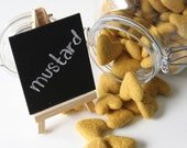 Felt Hearts- Pk of 10- Mustard Yellow