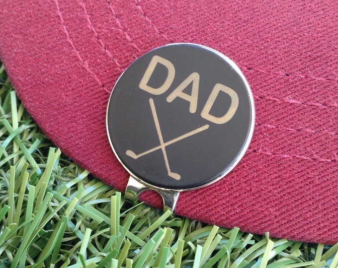 Personalized Golf Ball Marker / Hat Clip - Magnetic Custom Ball Marker - Dad Gift, Men's Gift, Golfer, Birthday Gift for Dad, Groomsmen Gift