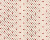 Miss Scarlet - Polka Dots in Stone by Minick & Simpson for Moda Fabrics