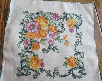 Green Bordered Handkerchief