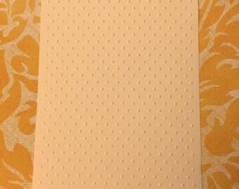 6 Polka dots Embossed Cardstocks - Choose your color