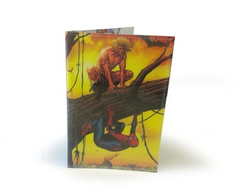 Passport Cover with Upcycled Spiderman Comic Book pages in Vinyl
