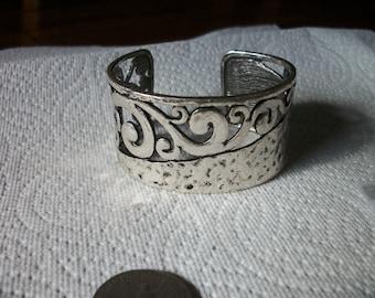 antique silver cuff