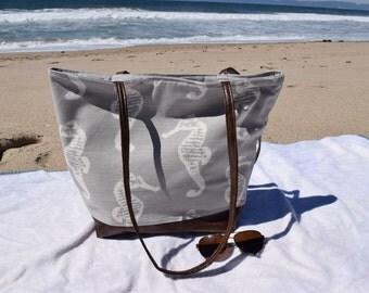 Seahorse Beach Tote Bag