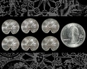 Silver Lily Pad Charms Set of 6 S-C151
