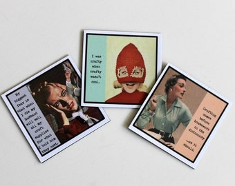 Funny Magnets for the Craftaholic Crafter Set of Sassy Sayings About Crafting