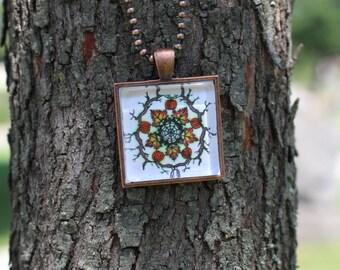 Autumn Mandala Original Fine Art Necklace