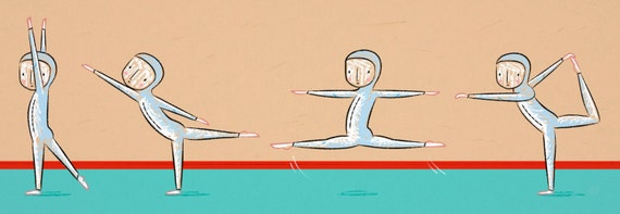THE GYMNAST - illustration - Limited Edition Art Poster Print