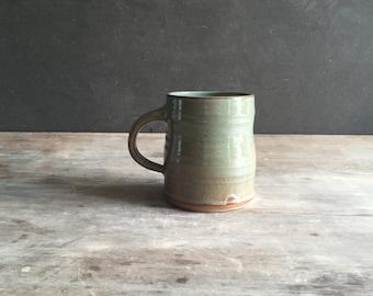 Coffee Mug 18 oz Tea Cup Handmade Ceramics and Pottery Mug in Woodland Green