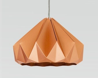 NEW: origami lamp Chestnut paper Shiny Copper