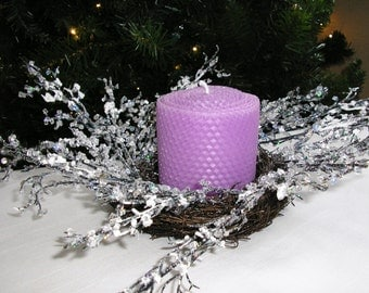 Lavender Beeswax Pillar candle
