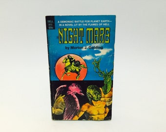 Vintage Sci Fi Book Night Mare by Morton Golding 1970 Paperback