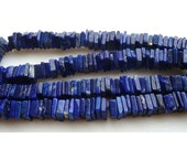 50% VALENTINE SALE 5 Strands, Wholeslae, Lapis Lazuli Beads - Square Heishi Cut Beads - 6.5 - 7mm Beads - 16 inches Full Strand