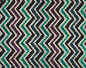 Chevron Velvet Bold Stripes Fabric by the yard - Insignia - VJ1005