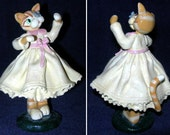 Donna Little by Enesco - Whimsical Cat with butterfly on nose figurine (Includes US Shipping)