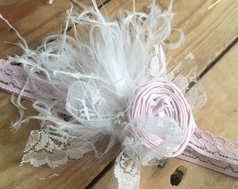Pink bubbles baby headband cozette couture