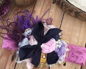School Day flower headband Cozette Couture