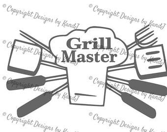 Grill SVG BBQ svg Grill Master svg digital cut file  svg Instant download