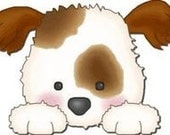 CROCHET GRAPH PATTERN, puppy for afghan