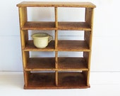 RESERVED FOR KAREN Vintage Wooden Cubby Box, Wooden Hanging Divided Box, Wall Cupboard