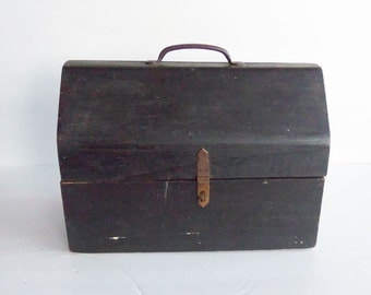 Vintage Wooden Tool Box . Old Wood Storage Box