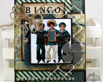 Sailor Boys Nautical Inspired All Occasion Greeting Card Handmade