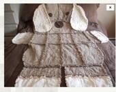 Custom puppy rag quilt for Deb