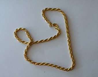 On Sale Mesh rope gold plated chain 18""