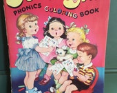 Sound and Say Phonics Coloring Book, Vintage Coloring Book