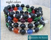 Colorful Multistrand Wrap Bracelet, Her Beaded Bracelet, Boho Chic Bracelet, Multicolor Bracelet, Her Colorful Jewelry, Statement Bracelet