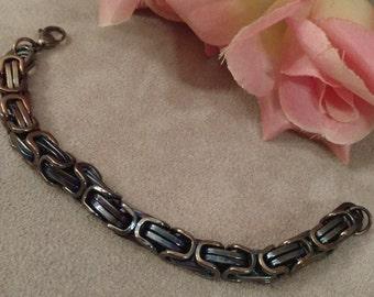 Biker Chain Bracelet, 316L Stainless Steel, Female, Heat Treated, Heavy Links