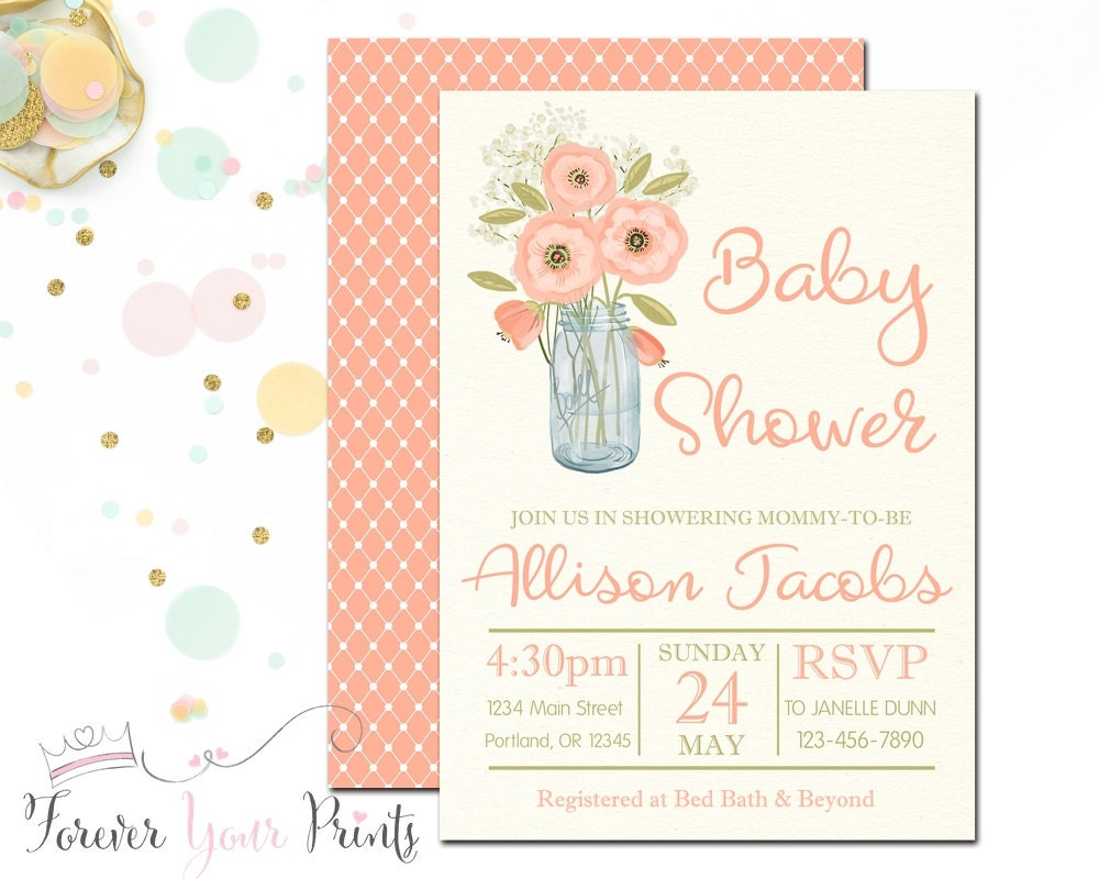 rustic baby shower invitation country baby by foreveryourprints