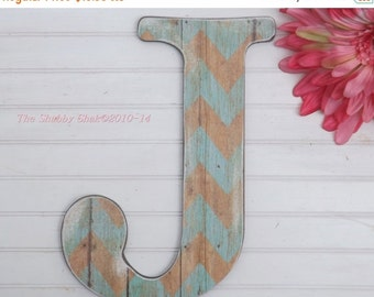 Wall Letter / Letter J /Nursery Wall Letter /Large Letter Wall Decor /Chevron