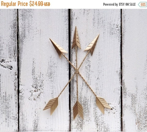 Gold Arrow Wall Decor : On sale gold wall arrow decor tribal by