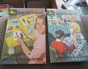Vintage Ladybird Key Words Reading Scheme 3C & 4C Excellent Condition