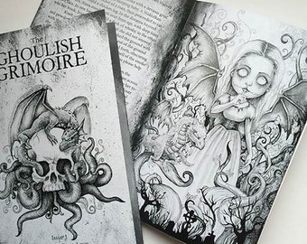 Ghoulish Grimoire - Horror Zine Art Book - Issue 1 -