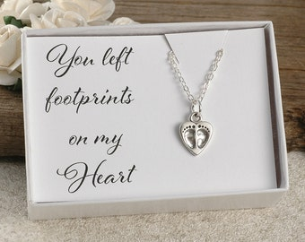 You left footprints on my heart, miscarriage, infant loss, memorial for baby, stillborn gift