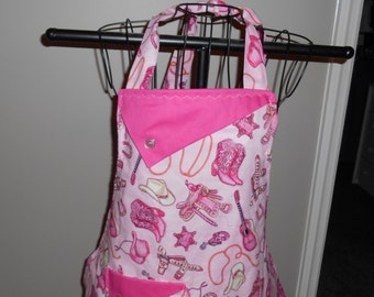 Pink Cowgirl Boots Women's Apron