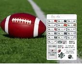 2016 NFL Team Schedule - Planner stickers