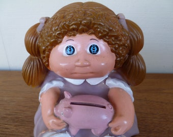 Cabbage Patch Bank Brown Hair Girl Vintage 1980's